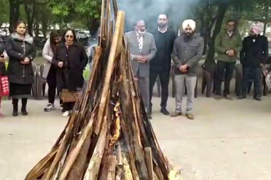 Judicial Court Complex celebrates lohri