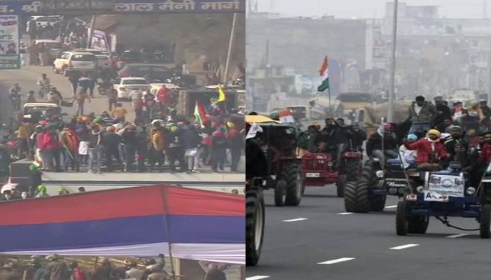 Delhi farmers protest tractor parade
