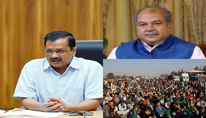 Farmers protest kejriwal says