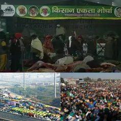 Farmers protest ghazipur border