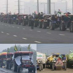 Farmers protest tractor march