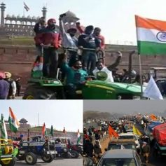 Tractor rally farmers protest