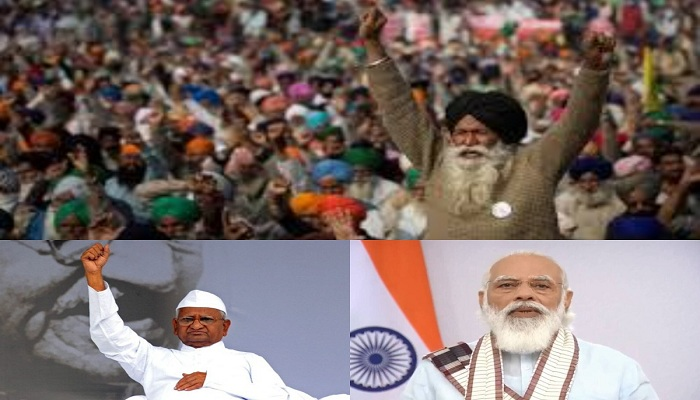 Farmers protest anna hazare