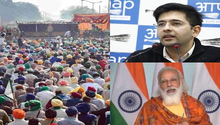 raghav chadha says cancellation of farmlaws