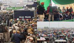 Farmer protest delhi police