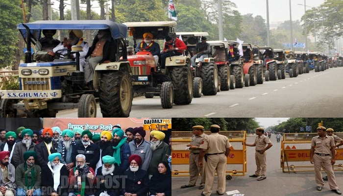 Farmers protest tractor rally