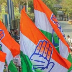 Congress march in Bhopal