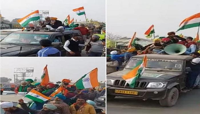Sadbhavna rally on singhu border