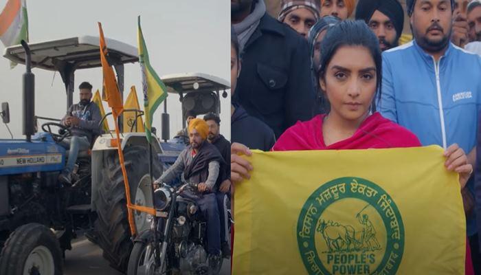 Rupinder Handa arrives at Ghazipur border