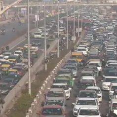 Big jams in delhi