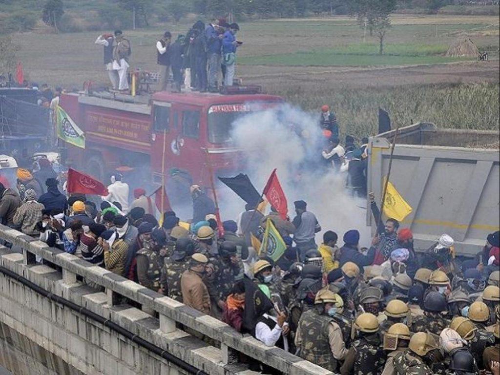 farmer protest violence delhi police action