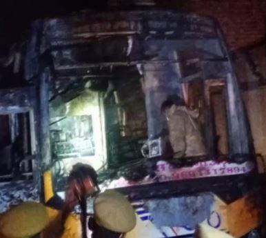 Rajasthan bus fire