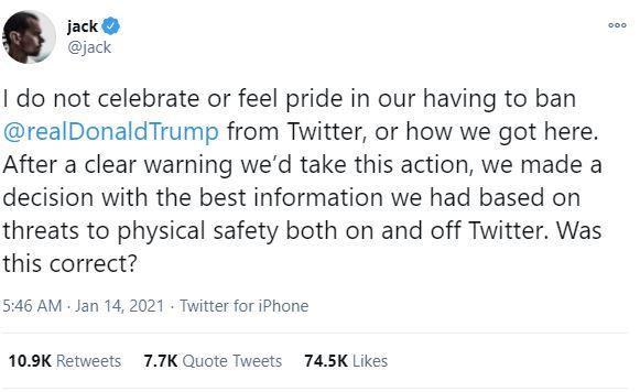 Twitter CEO breaks silence