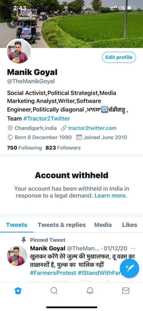 Farmers twitter accounts shut down