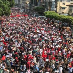 Nationwide protests against myanmar coup