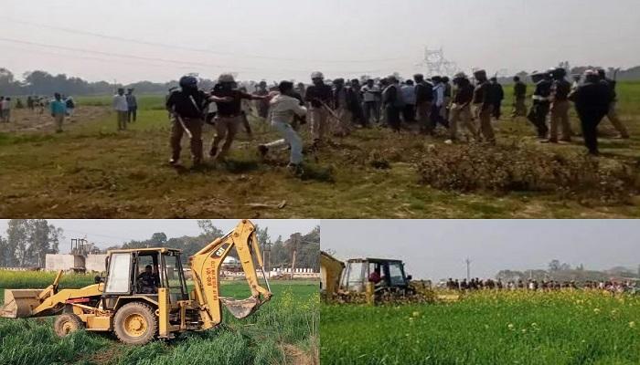 Gorakhpur link expressway bulldozer fired
