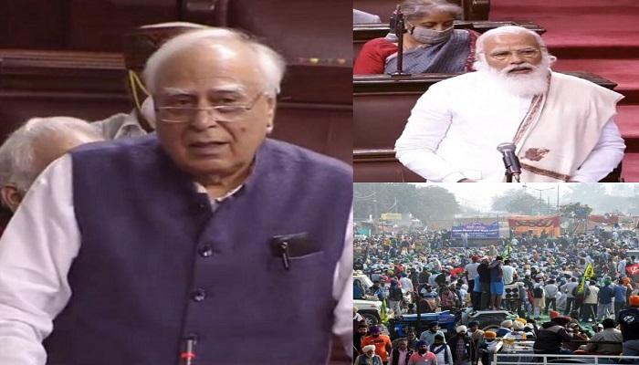 Rajya sabha kapil sibal accuses
