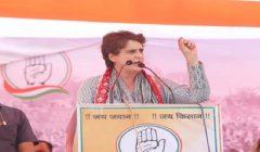 Priyanka gandhi addresses rally in mathura