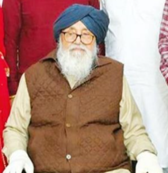 Former Chief Minister Badal