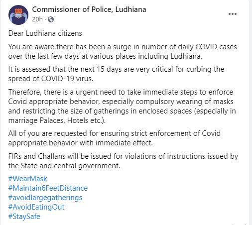 violations of instructions of corona