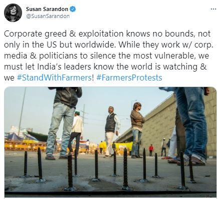 Susan Sarandon on her support