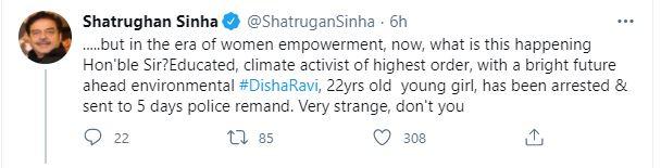 Shatrughan sinha tweets