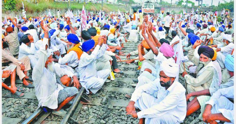 Farmers bharat bandh road block