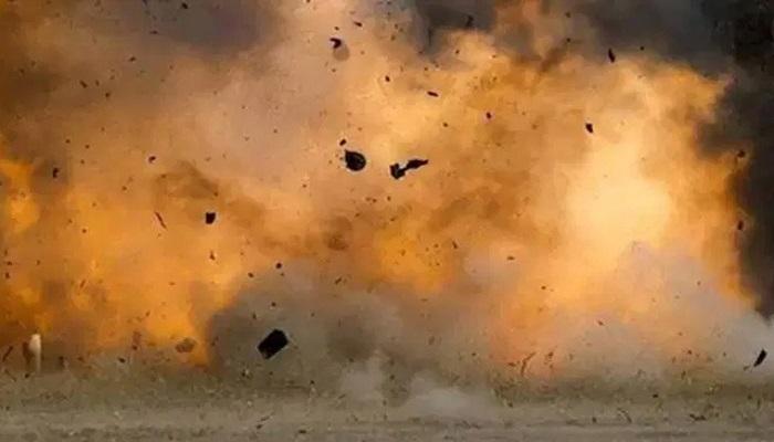 bomb blast near a military base