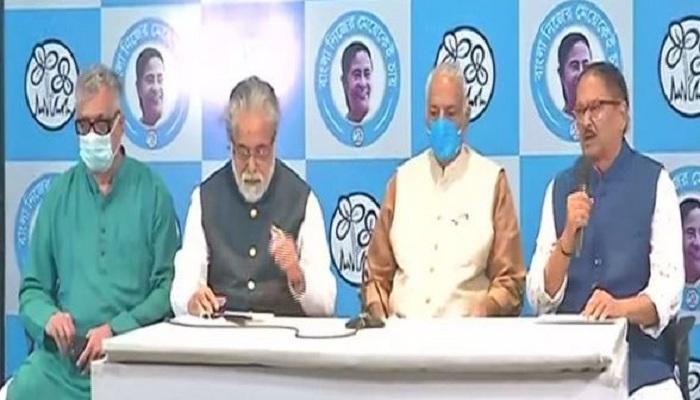 Yashwant sinha joins trinamool congress