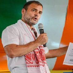 Rahul gandhi in assam rally