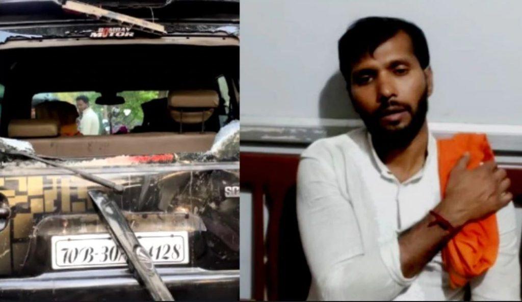 Attack on bjp candidate ashok dinda