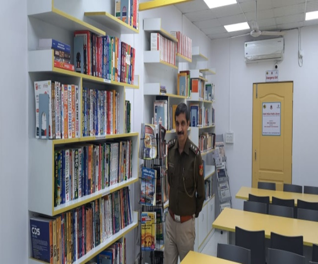Police station turns library