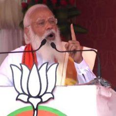 Pm modi attacks congress and left