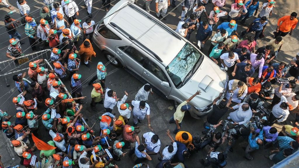 WB Polls BJP Workers Protest