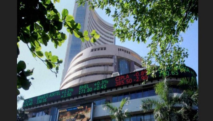 Share market at green mark