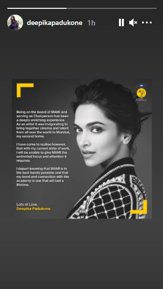 Deepika Padukone resigns as