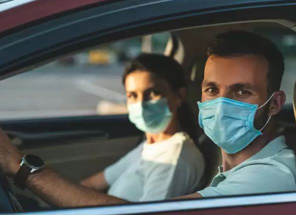 Mask is compulsory in car
