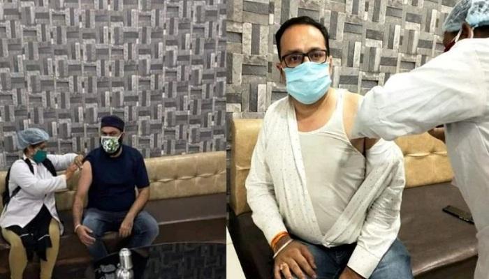 Mp anil firojiya staff vaccinated