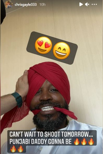 Chris gayle shares picture