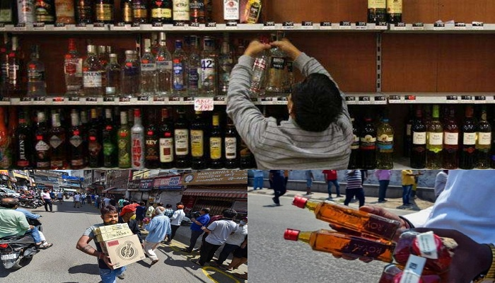 Liquor shops lockdown