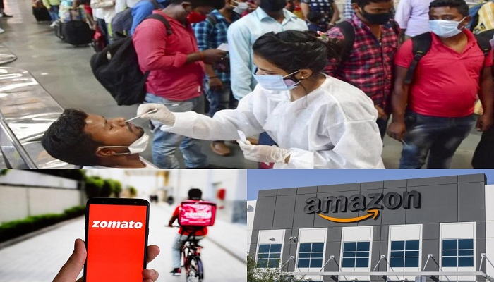 Amazon and zomato