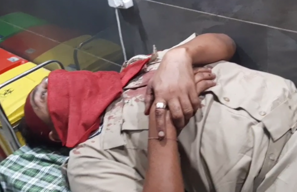 Attack on police personnel at check post