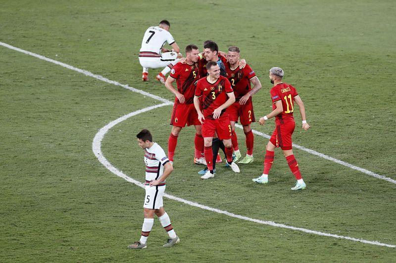 belgium beat defending champion portugal