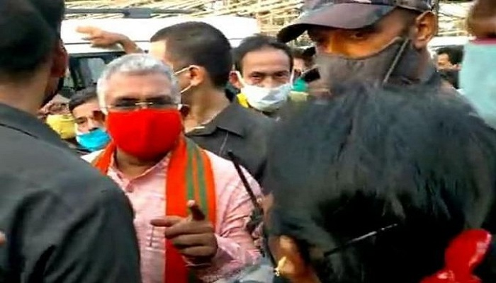 Dilip ghosh protest hooghly
