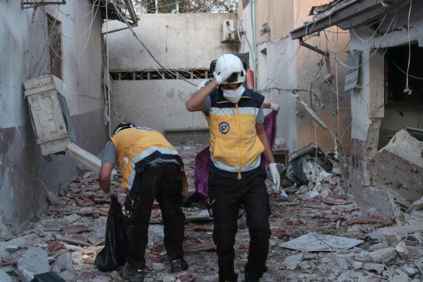 Artillery attacks on Syrian hospital