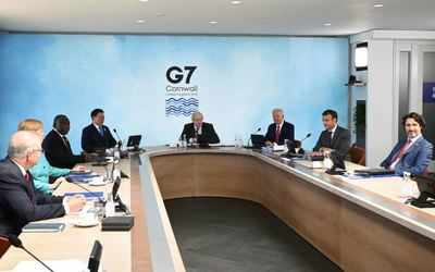 Boris Johnson in G7 Summit
