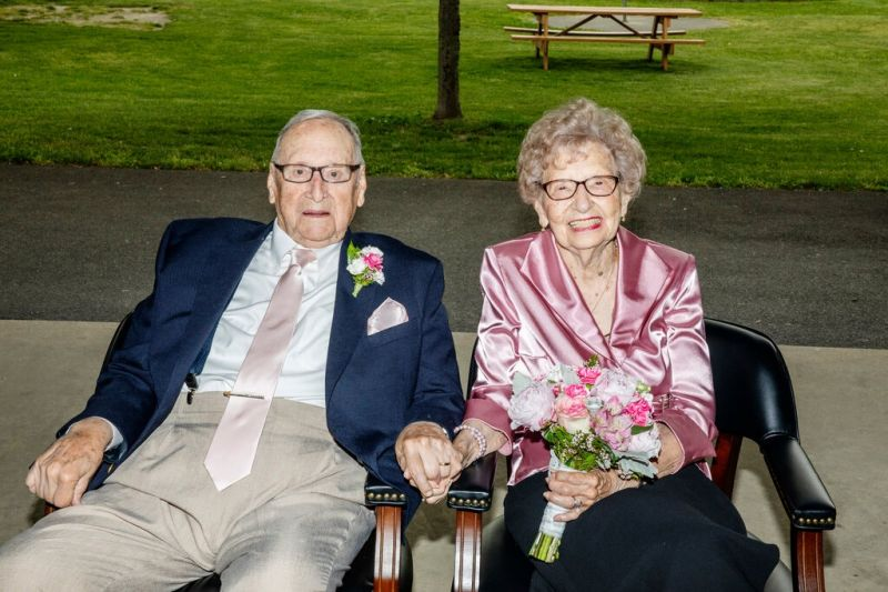 Wedding bells for two 95 year olds