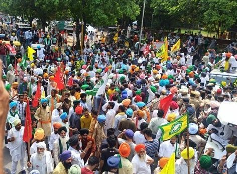 7 months of farmers protest delhi lg