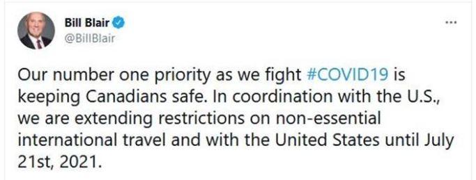 Canada extends ban