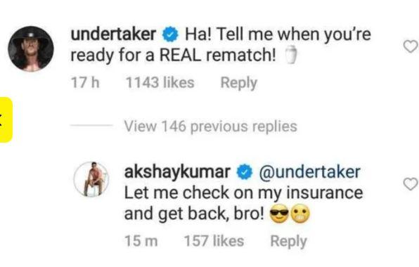 the undertaker challenges akshay
